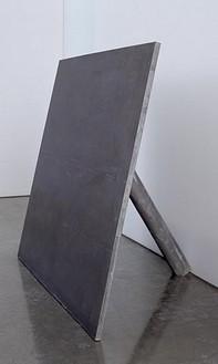 Richard Serra, Sign Board, 1969 Lead antimony, 48 × 48 × 31 inches (121.9 × 121.9 × 78.7 cm)