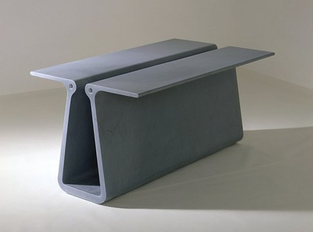 Marc Newson, Extruded Table 2 (grey), 2006 Grey Bardiglio marble, 63 × 35 ⅜ × 28 ¾ inches (160 × 89.9 × 73 cm), edition of 8