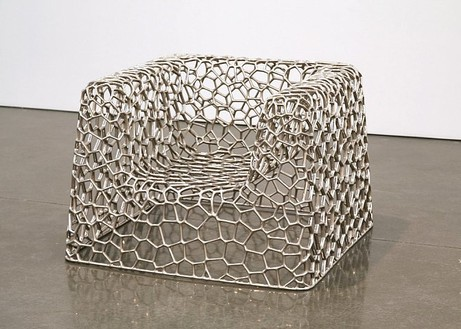 Marc Newson, Random Pak Chair, 2006 Grown nickel, 34 ⅝ × 34 ⅝ × 24 ⅝ inches (88 × 88 × 60 cm), edition of 10