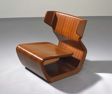 Marc Newson, Micarta Chair, 2006 Linen phenolic composite, 29 ⅞ × 29 ¼ × 31 ½ inches (75.9 × 74.3 × 80 cm), edition of 10