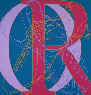 Michael Craig-Martin, Untitled (OR), 2007 Acrylic on aluminium, 78-11/16 × 74-13/16 inches inches (200 × 190cm)