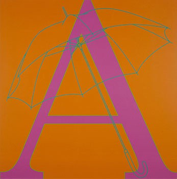 Michael Craig-Martin: A is for Umbrella, Britannia Street, London