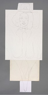 Mike Kelley, Chrome Goddess, 2006 Mixed media, 71 × 30 ⅛ inches (180.3 × 76.5 cm)
