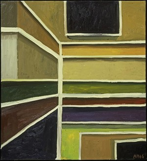 Anton Henning, Interieur No. 341, 2006 Oil on canvas, 43 ⅝ × 39 ½ inches (110 × 100.3 cm)