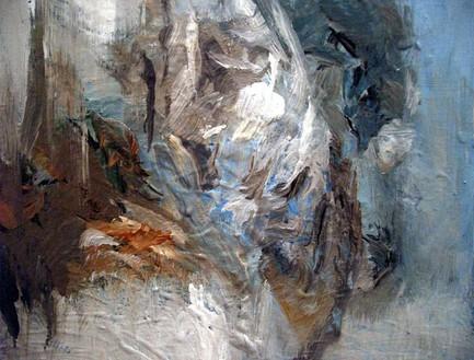 Katy Moran, Annie's Back, 2006 Acrylic on canvas, 15 × 18 ⅛ × 8 inches (38 × 46 × 2 cm)