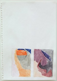 Hayley Tompkins, Untitled, 2006 Watercolor on paper, 11 ½ × 8 ¼ inches (29.2 × 21 cm)