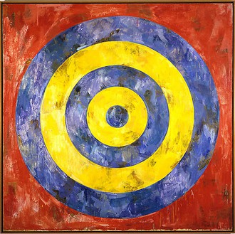 Jasper Johns, Target, 1961 Encaustic and collage on canvas, 66 × 66 inches (167.6 × 167.6 cm)