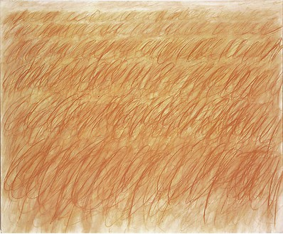 Cy Twombly, Untitled (Rome), 1970 Oil based house paint and wax crayon on canvas, 61 ¼ × 75 inches (155.6 × 190.5 cm)