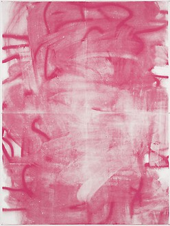 Christopher Wool, Untitled, 2005 Silkscreen ink on linen, 104 × 78 inches (264.2 × 198.9 cm)