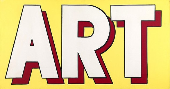 Roy Lichtenstein, Art, 1962 Oil and magna on canvas, 36 × 68 inches (91.4 × 172.7 cm)