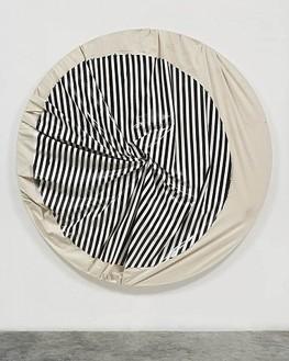 Steven Parrino, Skeletal Implosion 2, 2001 Enamel on canvas, 84 × 84 inches (21¾ × 213.4 cm)