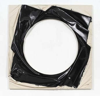 Steven Parrino, Spin-Out Vortex 2, 2000 Enamel on canvas, 71 ¾ × 71 ¾ inches (182 × 182 cm)