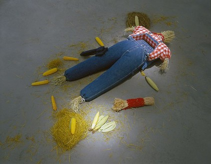 Mike Kelley, Farm Girl, 2006 Mixed media, 9 × 36 × 80 inches (22.9 × 91.4 × 203.2 cm)