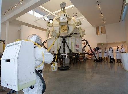 Tom Sachs, EVA Demonstration (Lunar sample conveyer), 2007 Photo by Joshua White