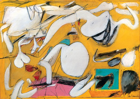 Willem de Kooning, Fire Island, 1946 Paper collage with enamel on board, 24 ⅛ × 36 ⅛ inches (61.2 × 91.7 cm)© The Willem de Kooning Foundation/Artists Rights Society (ARS), New York