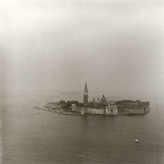 Ed Ruscha, Venice, Italy from the Air, 1961/2003 Gelatin silver print, Image: 10 × 10 inches (25.4 × 25.4 cm), edition of 8