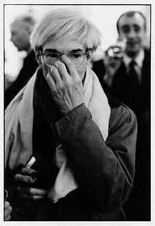 François-Marie Banier, Andy Warhol, Paris, décembre 1981, 2006 B & W photograph, 15 11/16 × 11 13/16 inches (40 × 30 cm), edition of 7