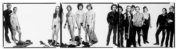 Richard Avedon, Andy Warhol and Members of the Factory, 1969/75 Gelatin silver print, 8 × 30 inches (20.3 × 76.2 cm)© The Richard Avedon Foundation