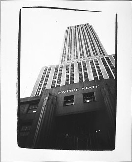 Andy Warhol, Empire State Building, 1982 Gelatin silver print, 10 × 8 inches (25.4 × 20.3 cm)