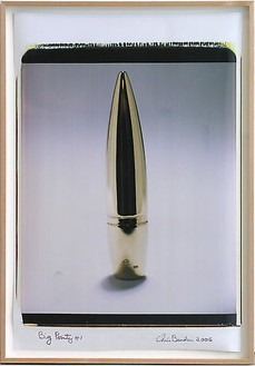 Chris Burden, Big Pointy #1, 2006 Polaroid print on paper, 35 × 23 inches (88.9 × 58.4 cm)