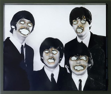 Douglas Gordon, Self-Portrait of You + Me (The Beatles), 2007 Smoke and mirror, 20 ⅞ × 24 ⅞ inches (53 × 63.2 cm)