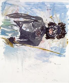 Georg Baselitz, Hadendoa (Remix), 2007 Oil on canvas, 118 ⅛ × 98 ⅜ inches (300 × 250 cm)