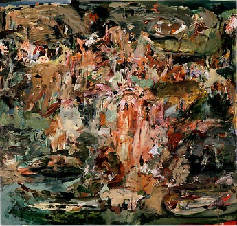 Cecily Brown, Study for Sam Mere 2, 2008 Oil on linen, 85 × 89 inches (215.9 × 226.1 cm)