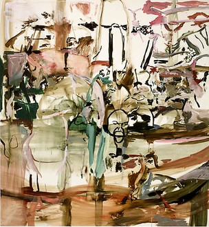 Cecily Brown, New Face in Hell, 2008 Oil on linen, 97 × 89 inches (246.4 × 226.1 cm)