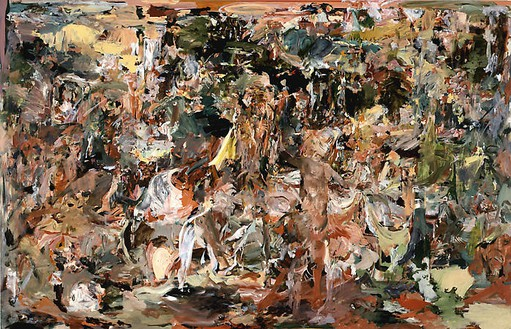 Cecily Brown, The Adoration of the Hermit, 2008 Oil on linen, 97 × 151 inches (246.4 × 383.5 cm)