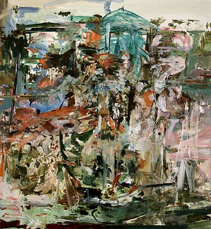 Cecily Brown, Indian Tourist, 2008 Oil on linen, 97 × 89 inches (246.4 × 226.1 cm)