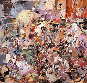 Cecily Brown, Carnival and Lent, 2006–08 Oil on linen, 97 × 103 inches (246.4 × 261.6 cm)