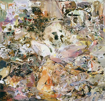 Cecily Brown, Skulldiver IV, 2006–07 Oil on linen, 85 × 89 inches (215.9 × 226.1 cm)