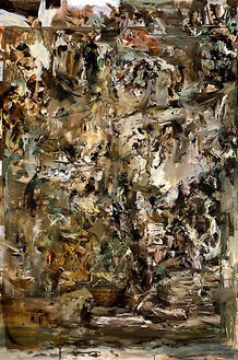 Cecily Brown, Bye Baby Bunting, 2008 Oil on linen, 65 × 43 inches (165.1 × 109.2 cm)