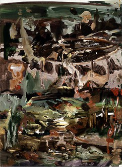 Cecily Brown, Untitled (#84), 2008 Oil on linen, 17 × 12 ½ inches (43.2 × 31.8 cm)