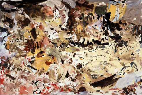 Cecily Brown, Untitled, 2007–08 Oil on linen, 43 × 65 inches (109.2 × 165.1 cm)