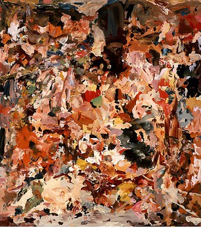Cecily Brown, Untitled, 2007–08 Oil on linen, 25 × 22 inches (63.5 × 55.9 cm)