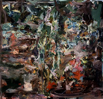 Cecily Brown, Study for Sam Mere 4, 2008 Oil on linen, 85 × 89 inches (215.9 × 226.1 cm)