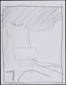 Dan Colen, Group VIII: In the shade, 2008 Pencil on paper, 13 11/16 11 3/16 × 1 ⅜ inches framed (34.8 × 28.4 × 3.5 cm)