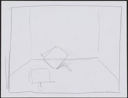 Dan Colen, Group II: Beginning, 2008 Pencil on paper, 11 3/16 × 13 11/16 × 1 ⅜ inches framed (28.4 × 34.8 × 3.5 cm)