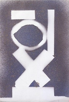 David Smith, Untitled, 1962 Spray enamel on paper, 17 ½ × 11 ½ inches (44.4 × 29.2 cm)