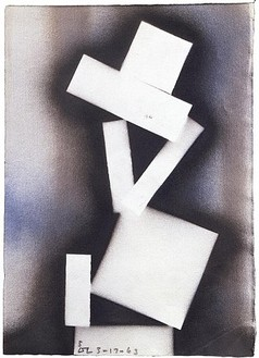 David Smith, 5 ∆∑ 3-17-63, 1963 Spray enamel on paper, 17 ½ × 12 ¾ inches (44.5 × 32.4 cm)