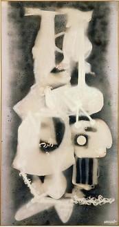 David Smith, Untitled, 1959 Spray enamel on canvas, 98 ⅛ × 51 inches (249.2 × 129.5 cm)