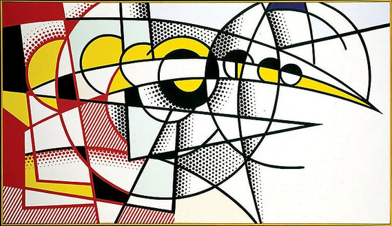 Roy Lichtenstein, Eclipse of the Sun, 1975 Oil and magna on canvas, 40 × 70 inches (101.6 × 177.8 cm)