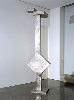 David Smith, Cubi II, 1962 Stainless steel, 130 ½ × 36 ⅞ × 23 ⅞ inches (331.5 × 93.7 × 60.6 cm)