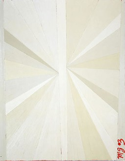 Mark Grotjahn, Untitled (White Butterfly Rose MG 03), 2003 Oil on linen, 36 × 28 inches (91.4 × 71.1 cm)