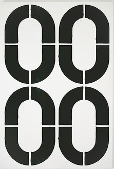 Christopher Wool, Untitled (P98), 1989 Alkyd and acrylic on aluminum, 90 × 60 inches (228.6 × 152.4 cm)