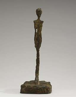 Alberto Giacometti, Figurine de Londres I, 1965–66 Bronze, 10 ¼ × 5 ¼ × 3 ¾ inches (26.1 × 13.4 × 9.4 cm), edition of 8