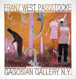 Franz West, Poster Design (Gagosian Gallery), 2008 Collage on paper, mounted on canvas, 79 ⅛ × 75 3/16 inches (201 × 191 cm)