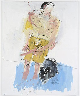 Georg Baselitz, Große Nacht (Remix) III (Big Night [Remix] III), 2008 Oil on canvas, 98 ⅜ × 78 11/16 inches (250 × 200 cm)