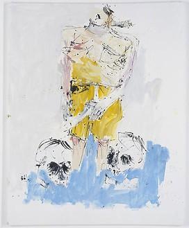 Georg Baselitz, Große Nacht (Remix) II (Big Night [Remix] II), 2008 Oil on canvas, 98 ⅜ × 78 11/16 inches (250 × 200 cm)